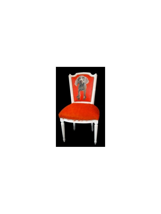 Eco Friendly Furnture and Lighting - Orange Dog. Upcycled Chair