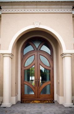 Custom Wood Doors tropical-front-doors
