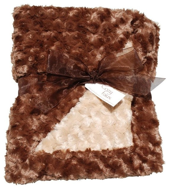 Baby Blanket, Brown and Camel contemporary-baby-bedding