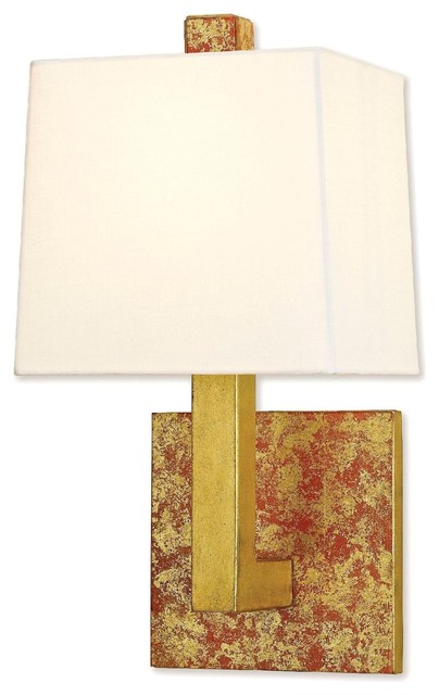 Currey and Company Mombo Wall Sconce in Orange traditional-wall-sconces