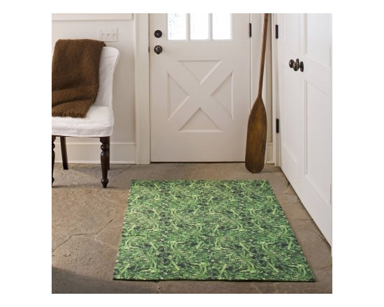 Roll in the Grass - Green printed carpet tile - These fun carpet tiles are great because they bring the outdoors indoors! Like other FLOR tiles they are removable, replaceable, and washable. They adhere with easy to install sticky dots.    +1 866 952 4093 | Roll in the Grass # 251280 Construction: Cut Pile, Soil/Stain Protection. Total Thickness .280 in Size 19.7 in x 19.7 in.   Foot Traffic Light.
