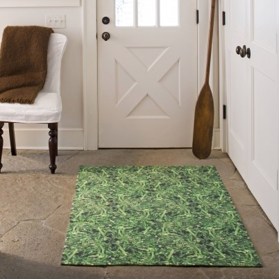 Roll in the Grass - Green printed carpet tile traditional rugs
