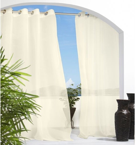 Cote D 39 Azure Semi Sheer Outdoor Curtain Outdoor Products