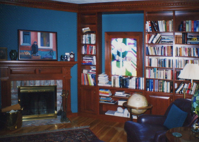 wellesley residence 2 - library - dpna.09 traditional-home-office