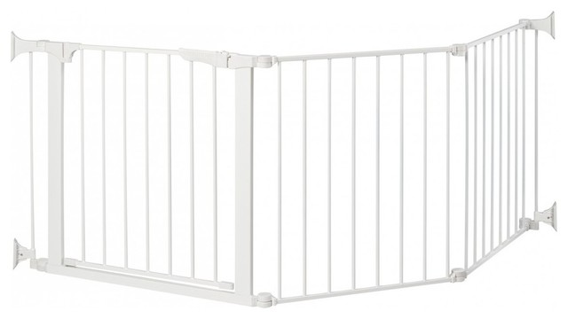 Auto Close ConfigureGate / Play Area - White modern-baby-gates-and-child-safety