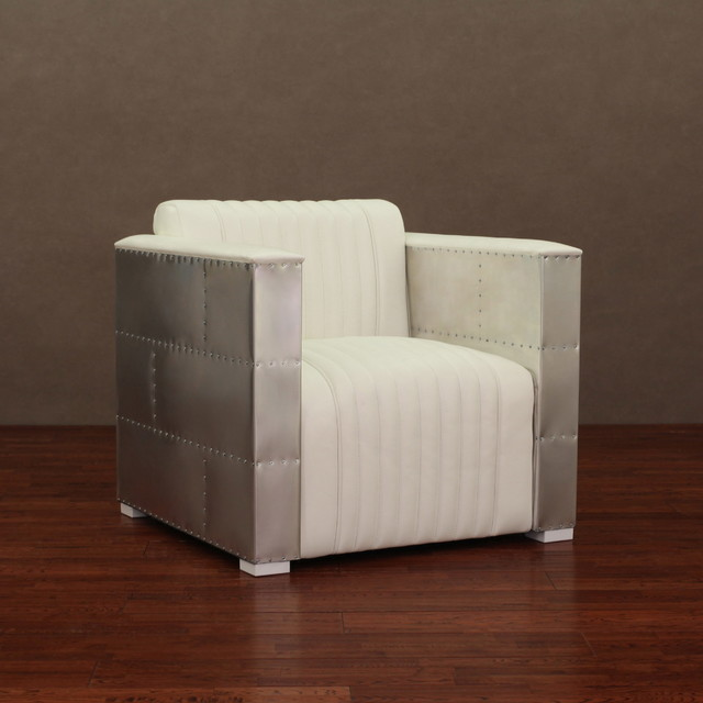 Modern white leather chair contemporary living room chairs