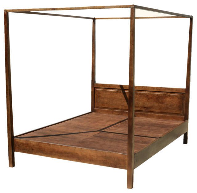 mission solid mango wood 4 post bed with canopy frame rustic platform beds san francisco