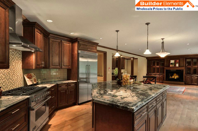 RTA Kitchen Cabinets Chocolate Maple Glazed Kitchen Cabinets  Modern