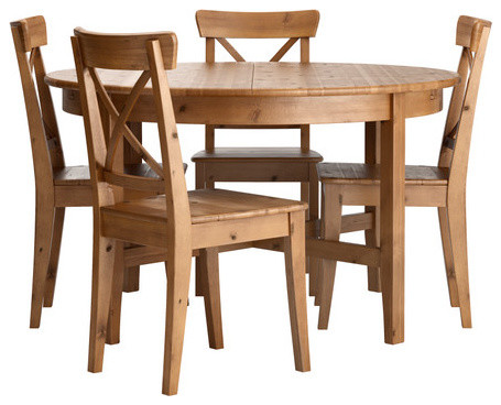 Leksvik ingolf table and 4 chairs scandinavian dining for Table leksvik