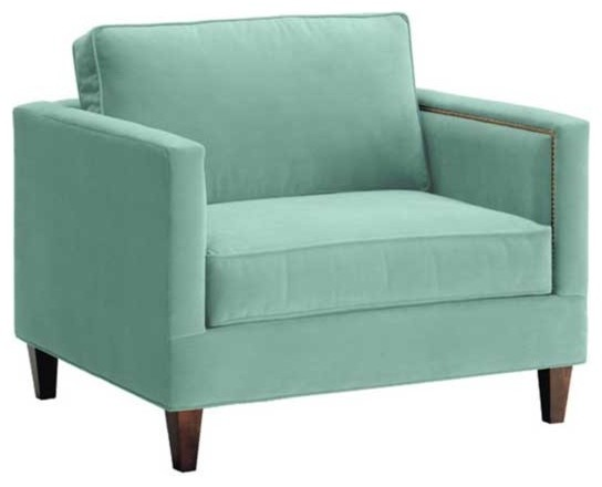 Anderson King Chair, 60's Blue transitional-living-room-chairs