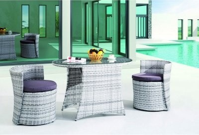 Ellipse All-Weather Wicker Patio Dining Set modern-dining-tables