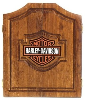 Harley-Davidson Dart Board Cabinet - Oak - Modern - Bathroom Vanities And Sink Consoles - by ...