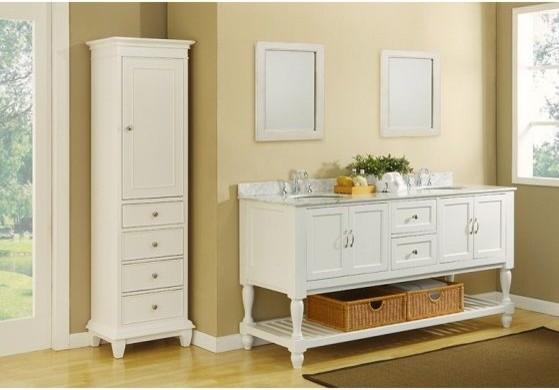 J & J International Double Sink Vanities - traditional - bathroom