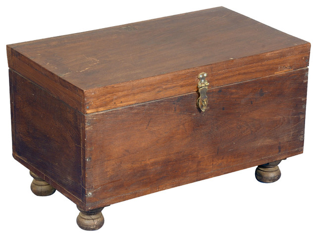 Reclaimed wood rustic storage box trunk chest rustic - Decorative trunks and boxes ...