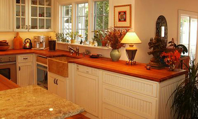 American Cherry Wood Countertop By Grothouse Traditional