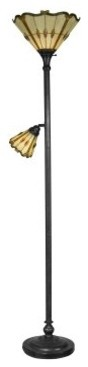 Dale Tiffany Jewel Torchiere Lamp with Side Light modern-floor-lamps