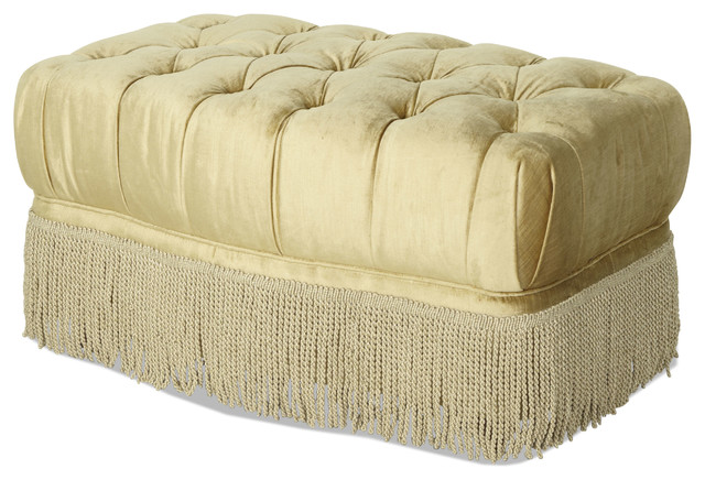 Imperial Court Tufted Chair Ottoman - Pearl traditional-footstools-and-ottomans