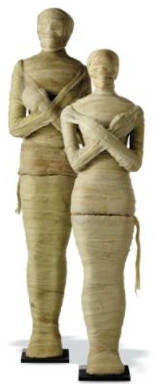 Life-size Halloween Mummy eclectic-holiday-decorations