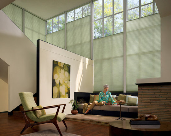 Duette Architella Honeycomb Shades with UltraGlide System - Duette Architella Honeycomb Shades by Hunter Douglas offer the UltraGlide retractable cord system - no annoying long cords!