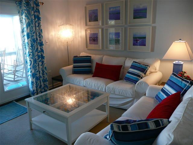 sunset beach nc beach house living room beach style