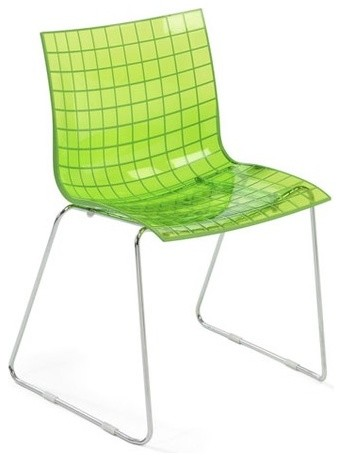 Knoll X3 Stacking Chair by Marco Maran, Lime modern-dining-chairs