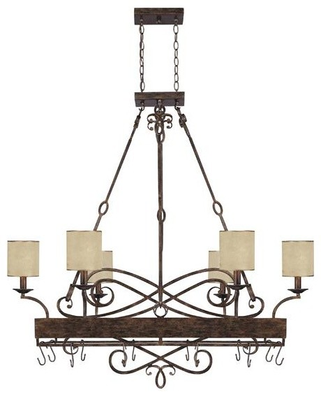 Capital Lighting 4168RT-497 6+2 Light Potrack/Chandelier Reserve Collection traditional-chandeliers