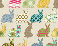 Year Of The Colorful Rabbit contemporary fabric