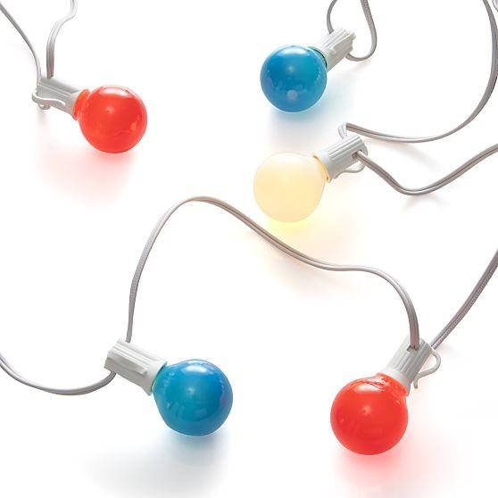 Patriotic String Lights - Contemporary - Outdoor Rope And String Lights - by Crate&Barrel