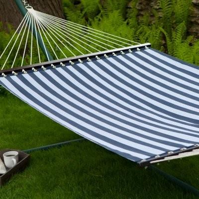 Island Bay 13 ft. Quick Dry Poolside Navy Stripes Hammock contemporary-hammocks
