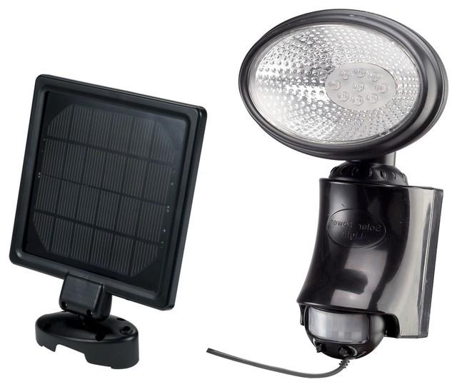 9 LED Solar Motion Sensor Security Light Contemporary Outdoor Lighting