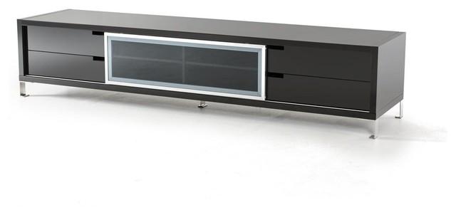 corten modern large black high gloss tv stand