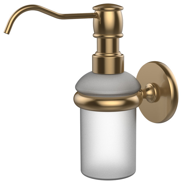 Wall Mounted Soap Dispenser Brushed Bronze Traditional Soap Lotion Dispensers By