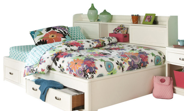 Legacy Classic Kids Park City Study Lounge Twin Bed in White contemporary-furniture