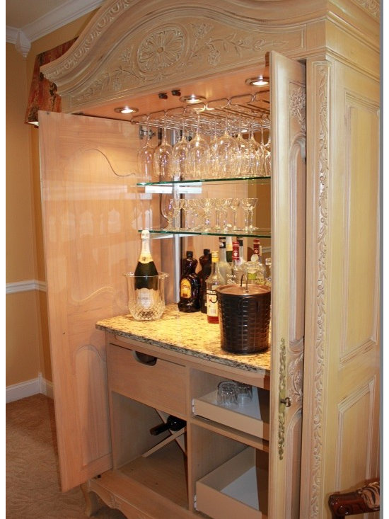 armoire to bar conversion -