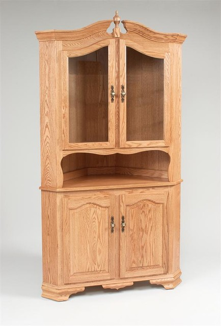 Amish Corner Hutch - Farmhouse - China Cabinets And ...