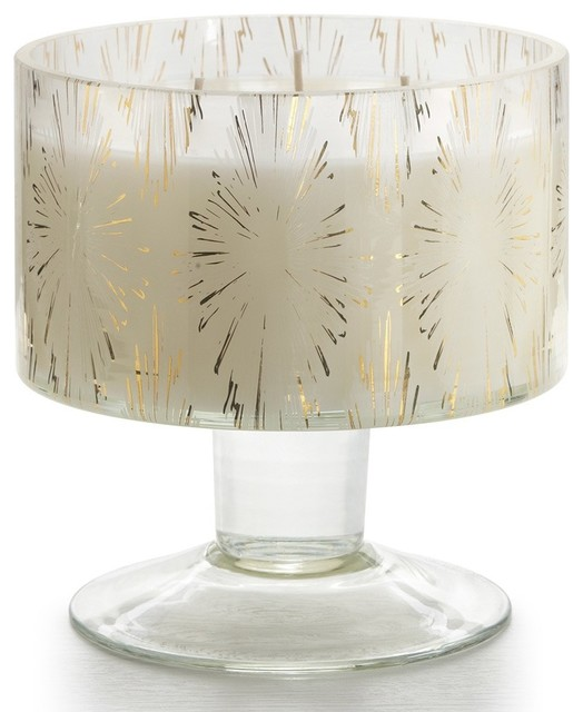 Illume Balsam & Cedar Garland Glass Candle contemporary-candles-and-candleholders