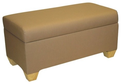 fabric bedroom storage ottoman modern footstools and