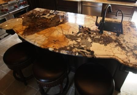 Exotic Granite Counter Traditional Kitchen Cleveland By