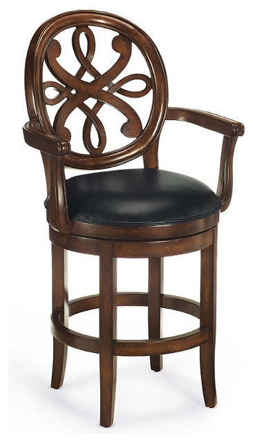 """Kristina Counter Height Bar Stool (24""""H seat, 31-1/4""""H arms) traditional-originals-and-limited-editions"""