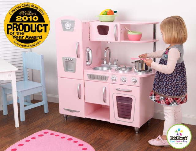 Kids Pink Vintage Kitchen Set From Vistastores - traditional