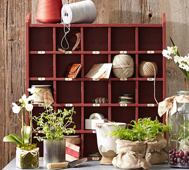 Cubby Organizer, Red - Contemporary - Display And Wall Shelves - sacramento - by Pottery Barn