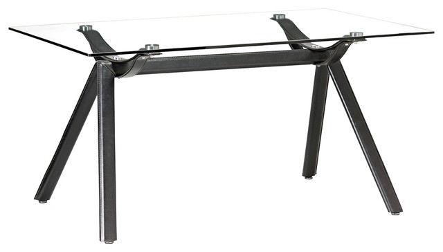Zuo Vex Black Dining Table contemporary-dining-tables