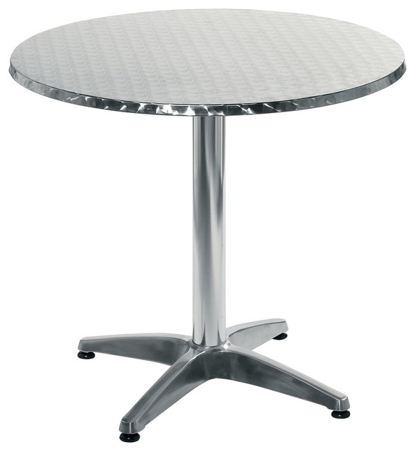 Allan 31.5in. Round Table - Stainless/Aluminum modern-side-tables-and-end-tables