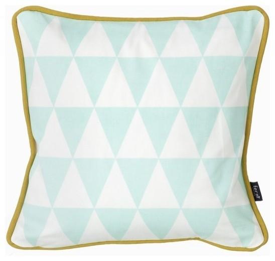 Little Geometry Pillow in Mint modern-decorative-pillows