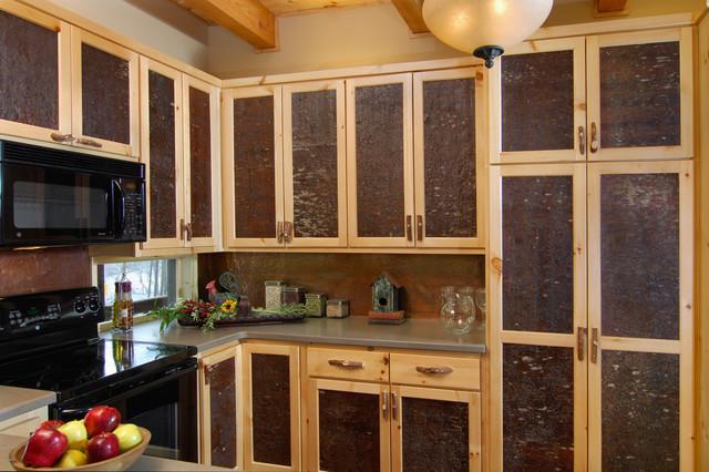 Bark House® Veneer Laminates - White Pine Cabinet Panel Inserts rustic-kitchen-cabinetry