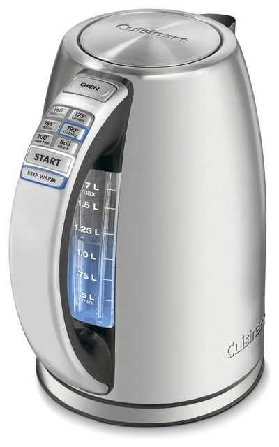 Cuisinart PerfecTemp 1.7-Liter Stainless Steel Cordless Electric Kettle modern small kitchen appliances