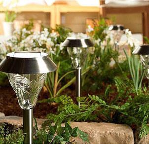 westinghouse 8 piece torrence glass high output led solar lights. Black Bedroom Furniture Sets. Home Design Ideas