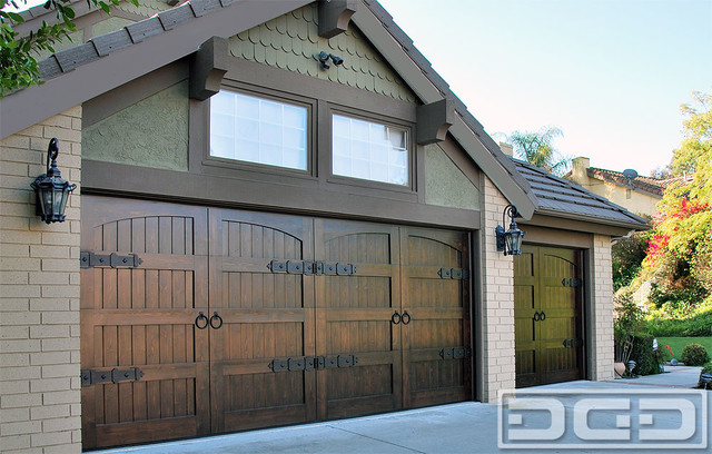 Custom wood garage doors in orange county ca get garage for Arts and crafts garage