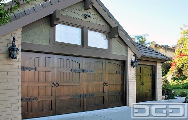 Custom wood garage doors in orange county ca get garage for Arts and crafts garage plans