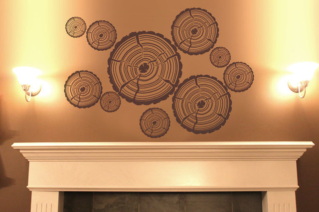 Woodcut - Wall Tattoos by Surface Collective living-room
